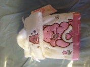 Care Bears Baby Plush Blanket and Hat White & Pink