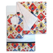 Yippee Bib, Burp Cloth and Receiving Blanket Set