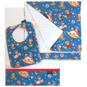 Rocket Rascals Bib, Burp Cloth and Receiving Blanket Set