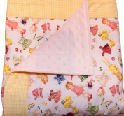 Retro Paper Dolls Quilted Baby Blanket