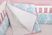 Novela Ela in Light Blue Organic Baby Crib Comforter