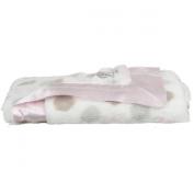 Little Giraffe Luxe Dot Blanket, 73.7cm x 88.9cm - Colour
