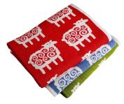 Chenille Blanket Lamb Motif