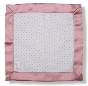 SwaddleDesigns Baby Lovie - Polka Dot Flannel with Bright Pink Satin