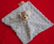 Miniville Blue Minky Swirl Bear Security Blanket