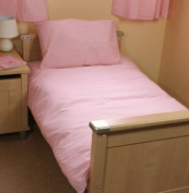 Pink Cot Bed /Junior Duvet Set 100% Cotton