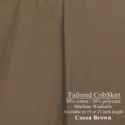 38.1cm long Tailored CribSkirt Crib Dust Ruffle Cocoa Brown