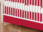 SheetWorld - Crib Skirt (28 x 52) - Solid Red Jersey Knit - Made In USA