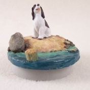 "Liver & White Springer Spaniel Candle Topper Tiny One ""A Day on the Beach"""