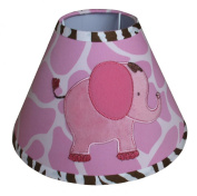 Lamp Shade for Pink Safari Baby Bedding Set By Sisi