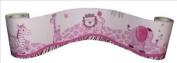 Wall Border for Pink Safari Baby Bedding Set By Sisi