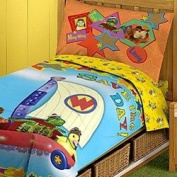 WONDER PETS 4PC TODDLER CRIB COMFORTER SHEET BEDDING SET