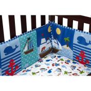 Little Bedding Traditional Padded Bumper, Baby Buccaneer