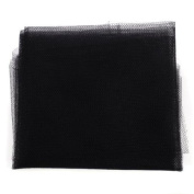 Insect Mosquito Net Fly Screen Window Mesh Net with Sticky hook and loop Tape - Black