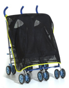 Content & Calm Protectishade Buggy Stroller Shade and Insect Mesh, Black/Green