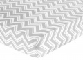 Fitted Crib Sheet for Turquoise and Grey Zig Zag Baby/Toddler Bedding by Sweet Jojo Designs - Zig Zag Print