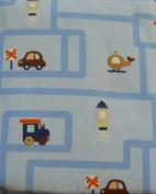 Circo Crib Sheet Transportation - Blue