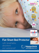 Hippychick Flat Sheet Bed Protector - White - Single Bed
