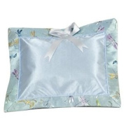I Frogee Brocade Baby Pillow in Light Blue Dragonfly