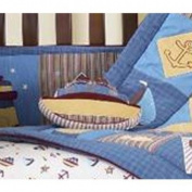 Beansprout Nautical Patch Pillow, Denim