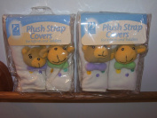 Plush Strap Covers with Decorative Design for Infants and Toddlers