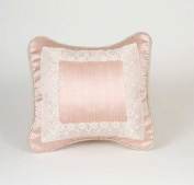 Glenna Jean Madison Pillow - Pink with Lace