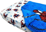 Spider-Man Webslinger 2pc Toddler Fitted Sheet Blanket Set Spiderman