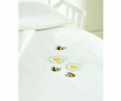 Saplings Cot Bed Duvet Cover And Pillowcase - Honey Bee