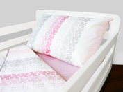 Olli & Lime logan Toddler Bedding Set, Pink/White