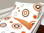 Olli & Lime billie Toddler Bedding Set, Orange/White