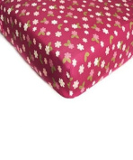 "Li'l Kids ""Butterfly Blossoms"" Fitted Sheet - colours as shown, one size"