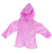 "Garanimals® Baby Girl's Soft Pink Velour Hooded ""Sparkle"" Sweater, Size"