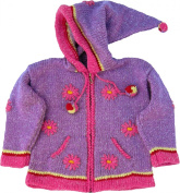 Purple Child's Sweater with Pointy Hood, Infant Size