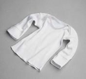 Shirt, Baby, Slipover, Mitten Cuff, Wht, 6mo