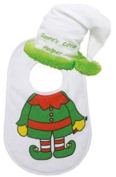 Santas Little Elf Baby Bibs Set [72687]