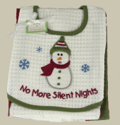 C & F No More Silent Nights Bib & Burp Cloth Set