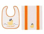 C & F Little Skipper Bib & Burp Cloth Set