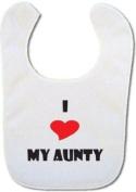 I love my Aunty baby bib