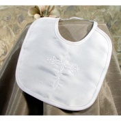 Silk Dupioni Bib with Embroidered Cross