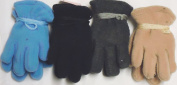 4fmg2.144, Set of Four Pairs One Size Mongolian Fleece Microfiber Lined Very Warm Gloves for Toddlers Ages 0-2 Years
