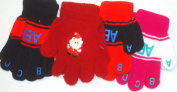 4fmg2.135, Set of Four Pairs One Size Stretch Magic Gloves for Infants and Toddlers Ages 1-4 Years