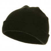 Infant Knit Cuff Beanie - Black W20S14F