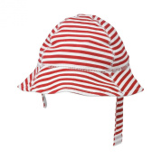 San Diego Hat Company Nautical Brim Chin Strap Hat, Red, 0-12 Months