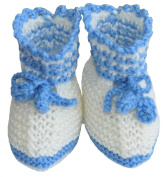 Hand Knit First Baby Shoes, Size 0-6m, Colour