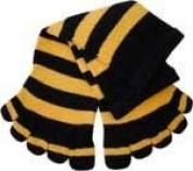 Cotton Socks Feelmax Basic Toe Socks Black/Yellow Stripe Infant Shoe Size 2 - 4