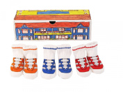 Dimples Pee Wee Sports Centre Three Pairs Gym Shoe Socks, 0-12 Months