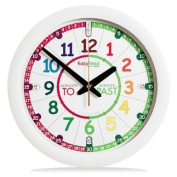 EasyRead Time Teacher Children's Wall Clock with simple 3 Step Teaching System. 30.5cm dia, learn to tell the time, ages 5-12.