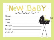 Stroller Fun Birth Announcements with Envelopes