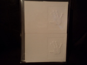 White Embossed Handprint Cards