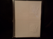 White Embossed Handprint Cards